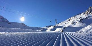W Alpach doskonałe warunki śniegowe [wideo] - ©facebook Kaunertal Gletscher