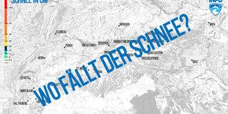 Karte: Schneevorhersage für den Alpenraum - ©Skiinfo