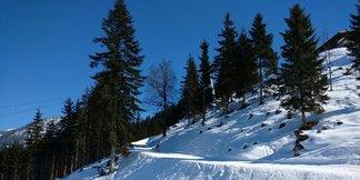 Werfenweng - mocno zmrożony snieg, miejscami cholernie twardy wręcz lód - ©A&A