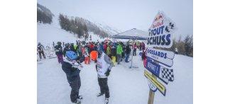 Ambiance assurée pour cette première étape du Red Bull Tout Schuss aux Orres - ©Office de tourisme des Orres