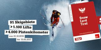 Snow Card Tirol - 91 lyžiarskych stredísk a 4 000 km zjazdoviek - ©Snow Card Tirol