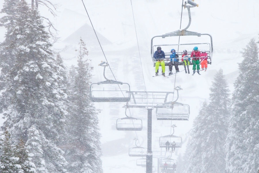 Tahoe skiers and boarders enjoyed the first big snowfall of the season this past weekend. Photo by Sasha Coben