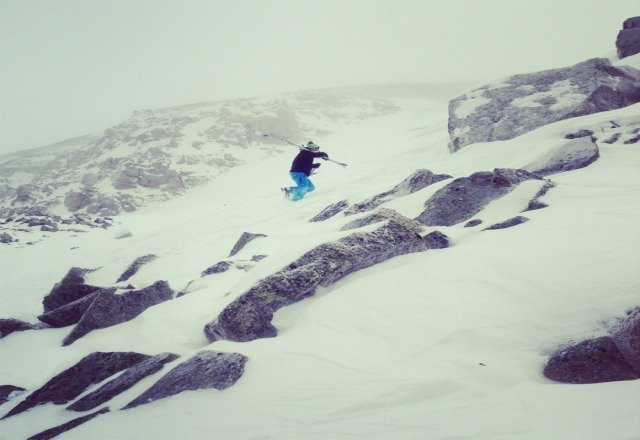 keep in the backcountry and youll be fine. This is on of the higher peaks on the backside and we got into 2-3 feet of pow
