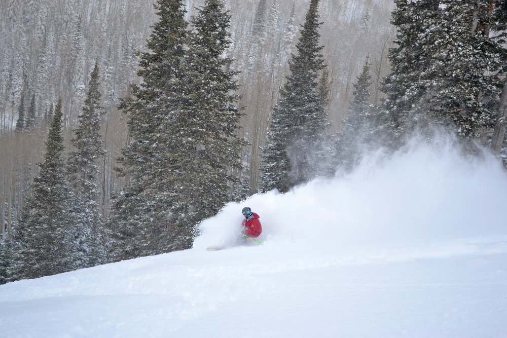 Utah's light powder was back this weekend when over two feet fell at Park City Mountain Resort. Photo Courtesy Park City Mountain Resort