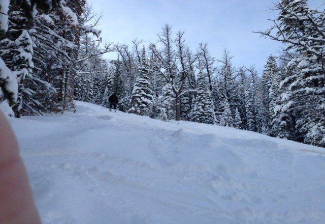 sweet powder in the Glades on Monday afternoon