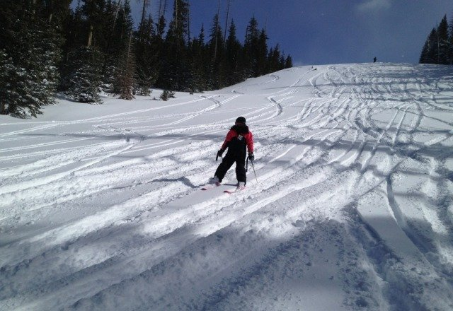 Can you say POWDER!?!?? Yesterday was awesome. No lines and sunshine. Amazing ski conditions.