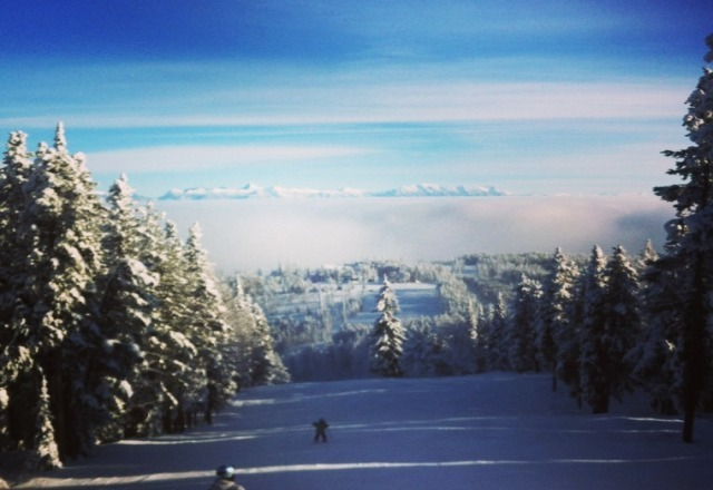 Great day! Fresh powder today! not many people! was awesome above the clouds!