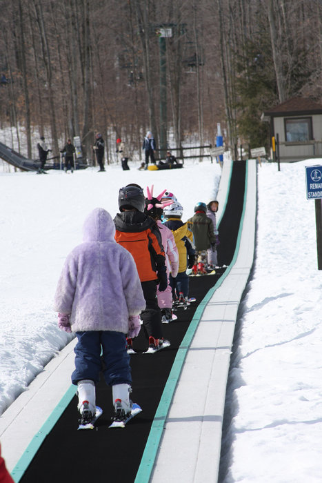 Magic carpet conveyor at Boyne Mountain Resort, Michigan