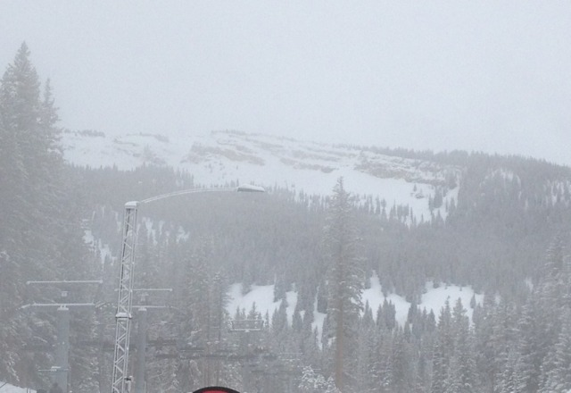 Today was not for the faint hearted.  Awesome powder all over many areas over four inches.  Visability a challenge.  Sun out now.  Tomorrow should be wonderful!