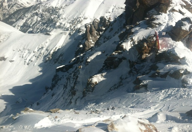 This is the mian chute off the top of Palmyra Peak...