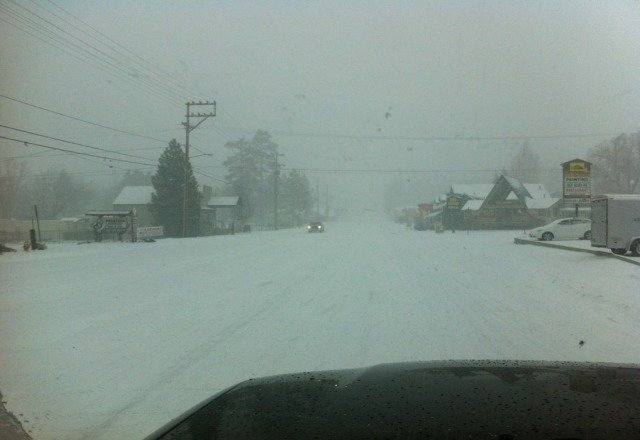 just took a break from riding.  its dumping, so far 5