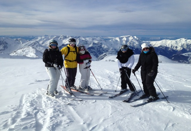 at the top of deux alpes 24th dec 2012. incredible views.