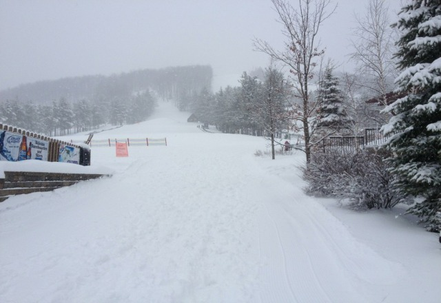 incredible day at wisp...NOBODY here and tons of powder.  snow is a little wet but no complaints!