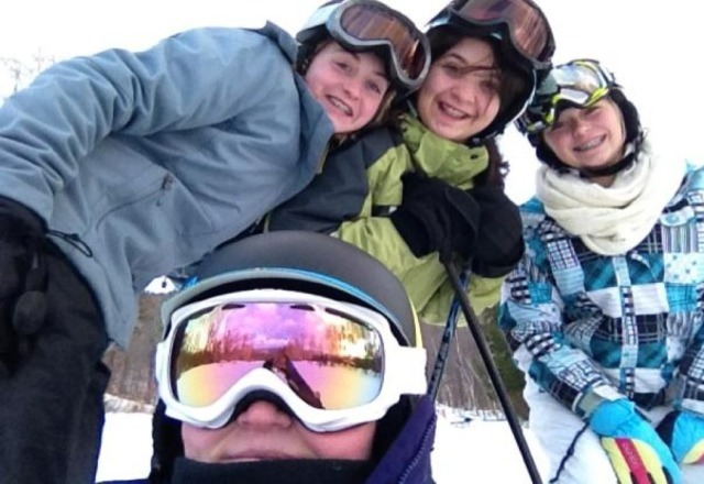 Every Friday night wih these girls at Lost Valley<3 A little ice, but still amazing..as usual(: Love LV..My main ski resort to be at