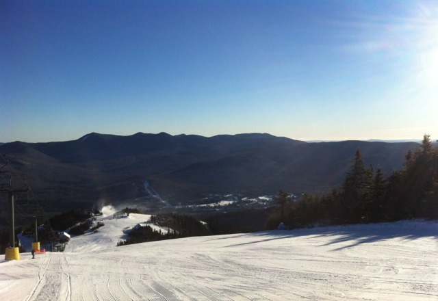 Great conditions...bluebird sky.