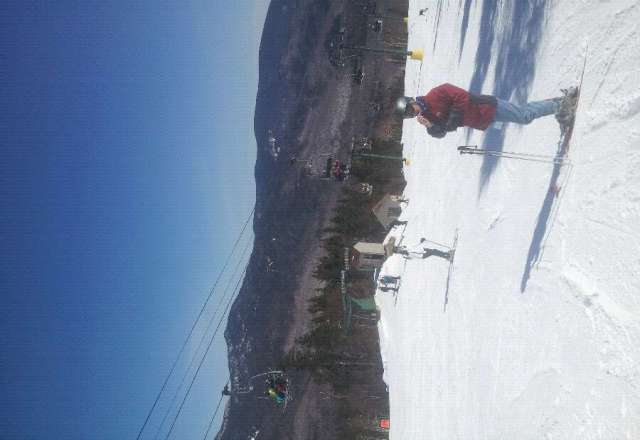 Sunny and plenty of snow left!!! great day of Skiing crowded but lift lines still moved quickly!!!