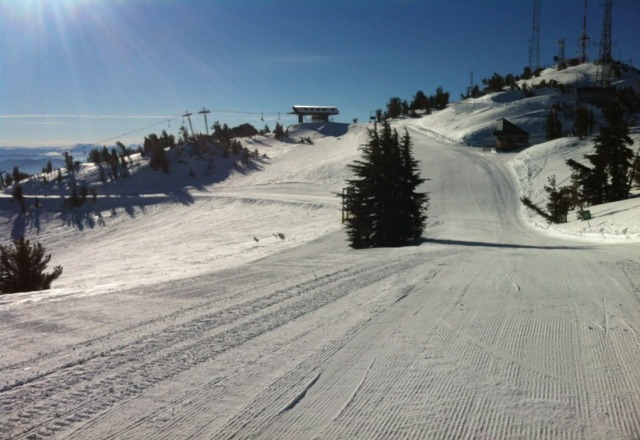 i was there yesterday and had great conditions. All the groomers were perfectly tailored and the slide bowl super fast!