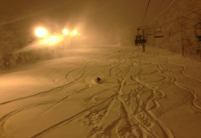 good night skiing but the trails that are open need to be groomed.