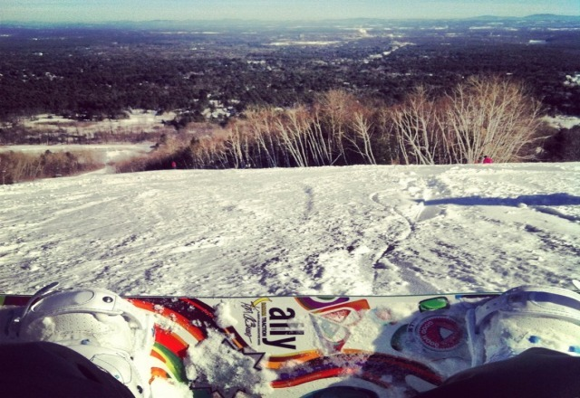 Great day of boarding, know one was going off the tripple, Mach was really nice, great conditions =]