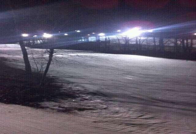 Icy last night but empty.