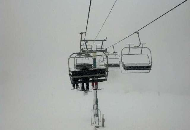 whiteout today, was really hard to see. lots of powder tho