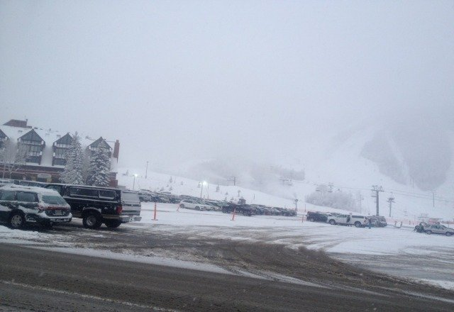 pic from this morning. been snowing all day. dont think its supposed to stop anytime soon.