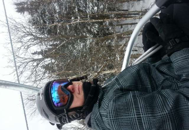 great day, weird skiing in powder