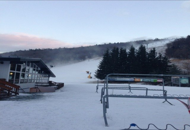 Great day today a little icy at the end but great overall  Snowmakers blowing all day