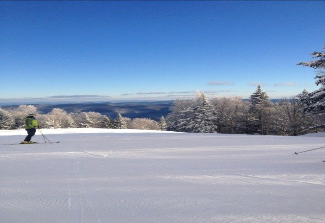 Beautiful day for skiing besides the strong winds