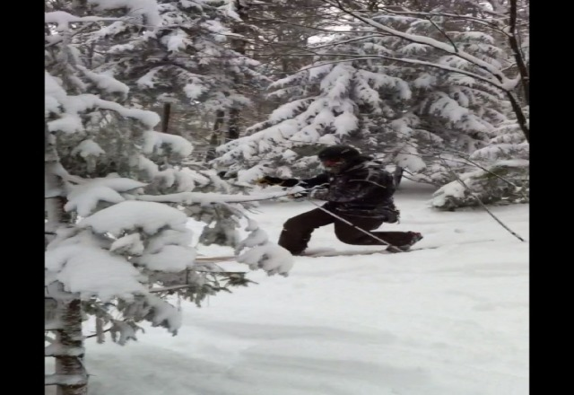 I saw sasquatch at mt snow!!