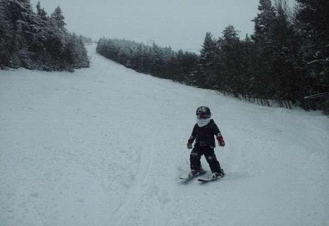 My 3yr old on Upper Giant Killer. Great time.