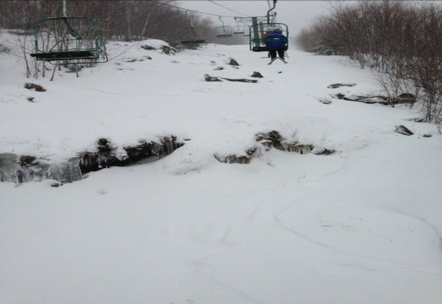 some pow spots some not so some packed overall looks like a great day