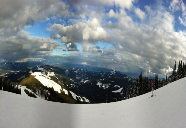 This was the view by chair two sunday afternoon.  There are some ice patches here and there but still a great time.