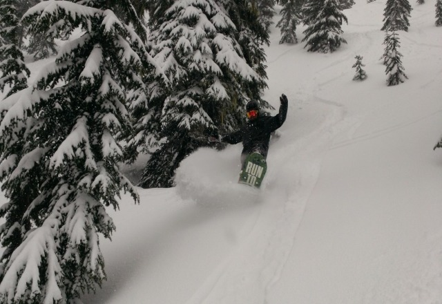 amazing powder day @ stevens today!