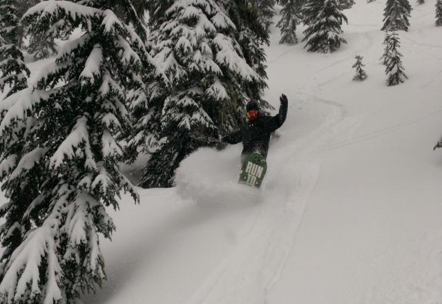 amazing powder day @ stevens today!