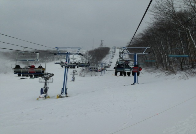 good snow but slopes are crowded
