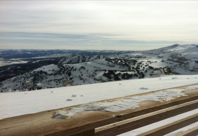 view from waffles off the tram..gotta love Jackson Hole!