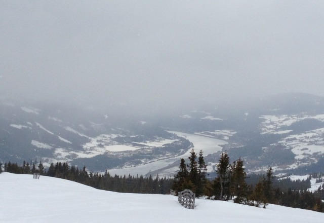 Top of hill is nice after recent snowfall, middle is icy and slushy base, but hey it's April !