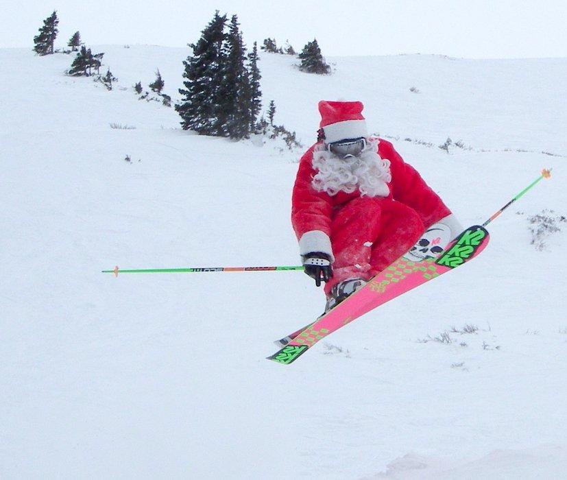 Santa skiing at Loveland, CO.