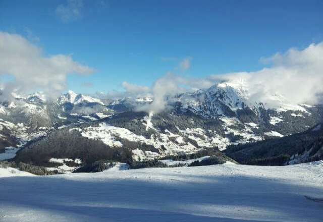 Abondance is open and has good snow. 17 Euro for all day going down to 10 Euro next week. Lessonz 35 Euro per hour. 5