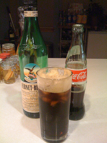 Fernet Branca and Coca Cola - ©Photo Courtesy PowderQuest