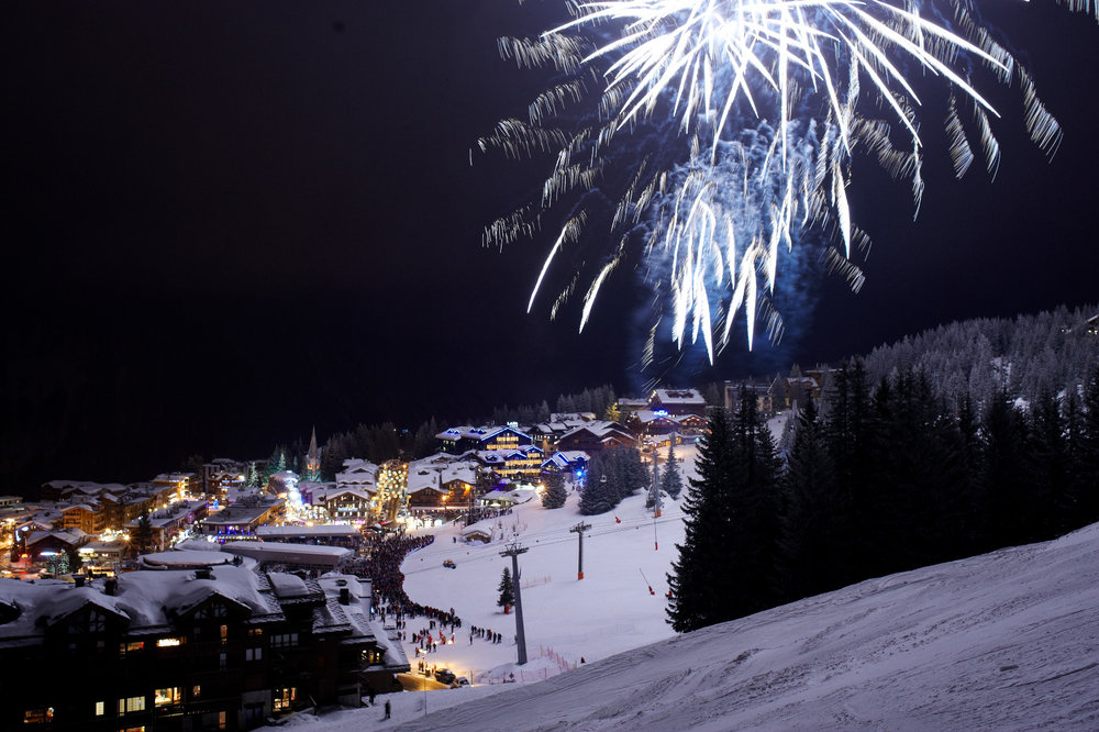 Fireworks festival in the French resort of Courchevel