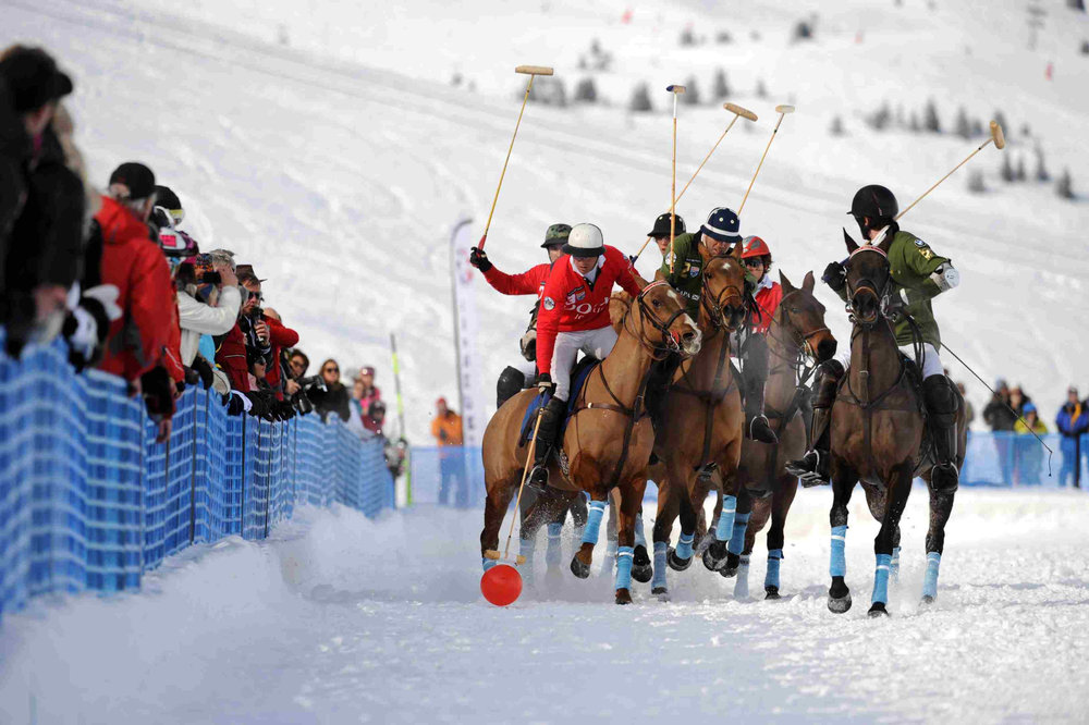 Late Janaury in Courchevel: the Polo Master tournament