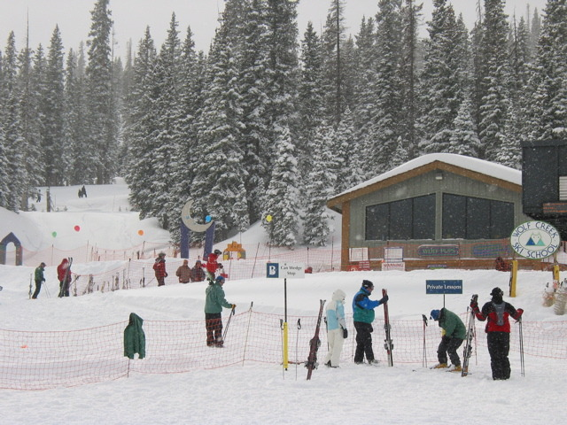 Ski school in Wolf Creek, Colorado