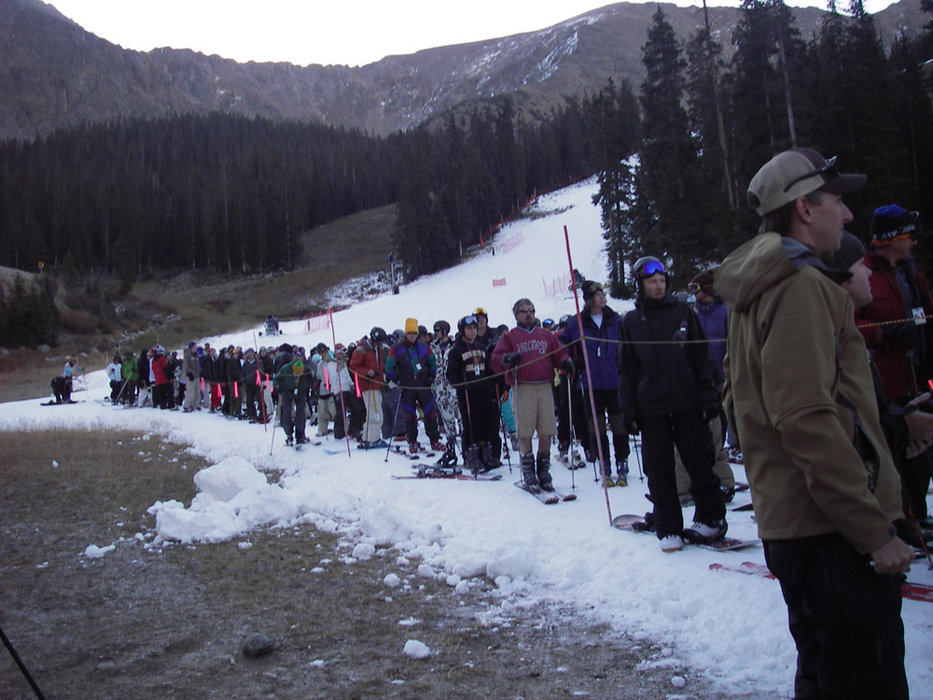 Opening day at Arapahoe Basin, 2007.