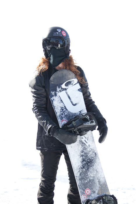 Shaun White gets ready for practice. Photo by Sasha Coben