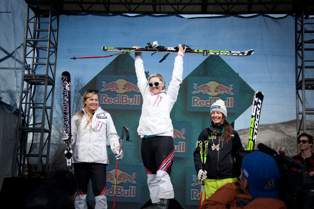 Women's Skier X podium. Photo by Sasha Coben