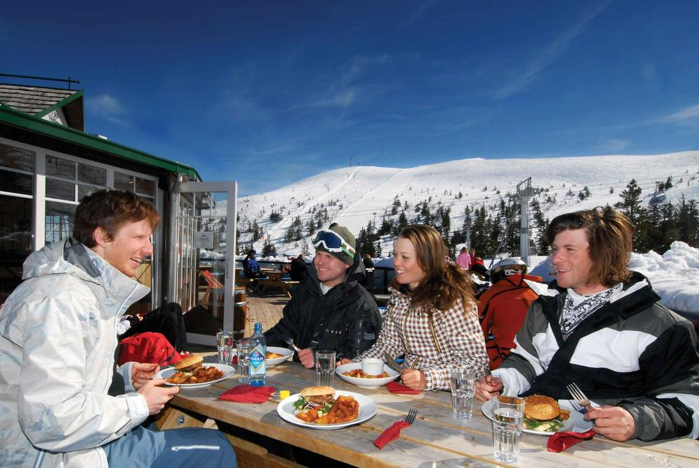 Dining on the mountain in Trysil, Norway