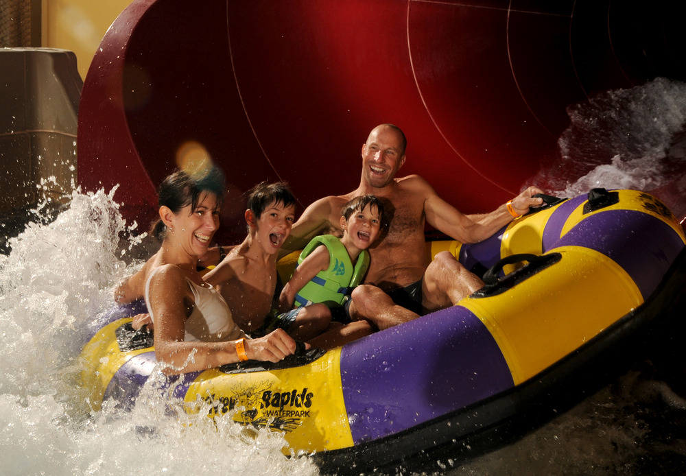 The ultimate family apres at Silver Rapids Waterpark. Photo courtesy of Silver Mountain