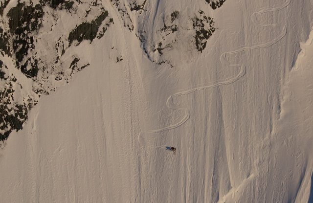 Dean on 55 degrees and firm on a section of Hourglass spring 2013   - ©Eric Layton